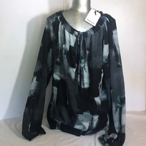 """""""MEXX"""" NWT Tie Dyed Effect Long Sleeved blouse ."""